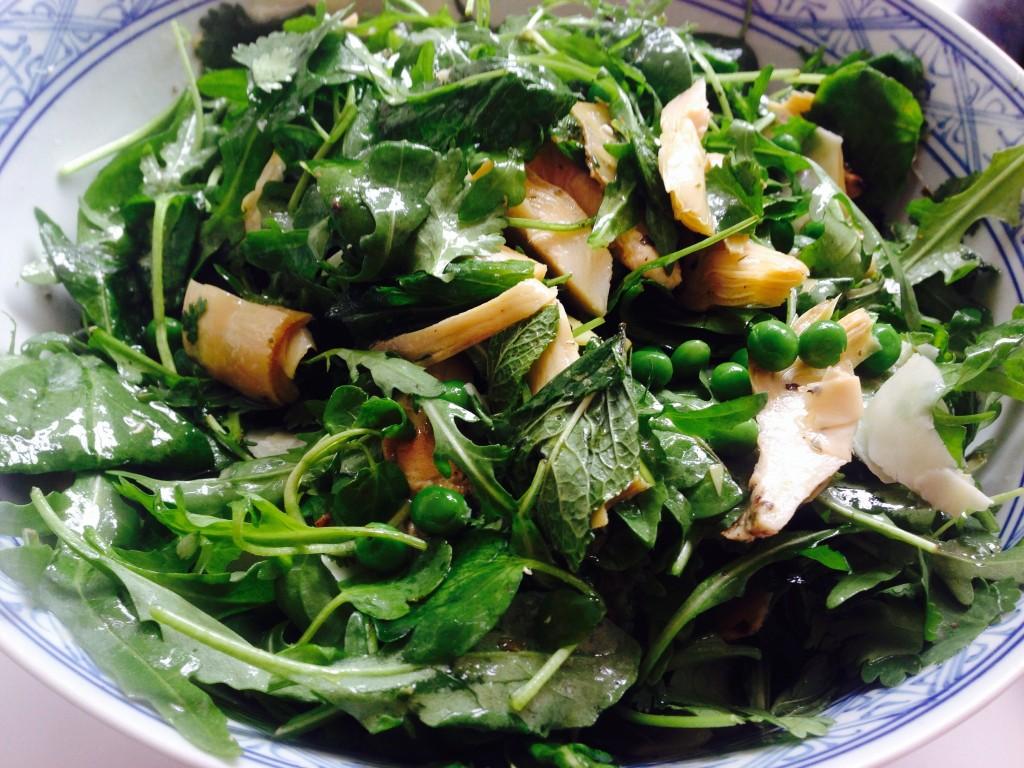 Artichoke, Pea & Pecorino Salad