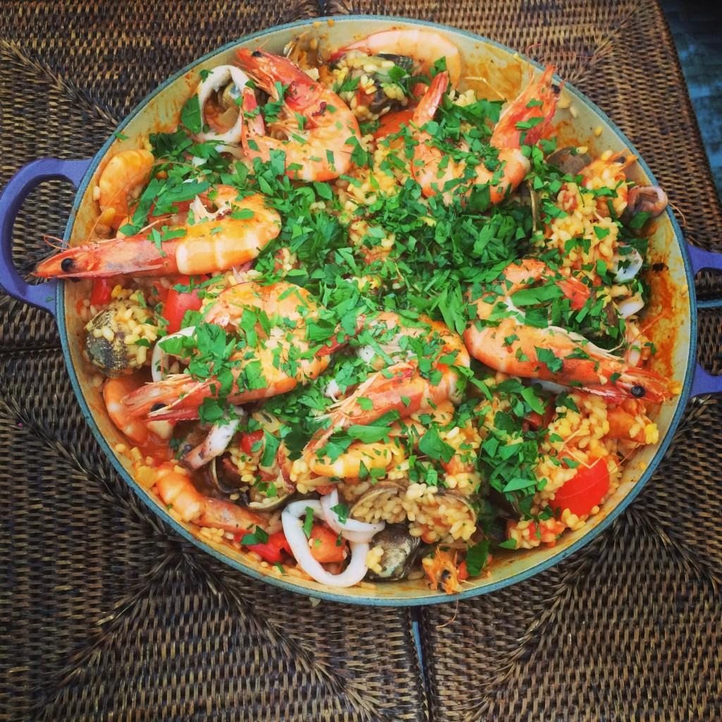 Smokey Seafood Paella