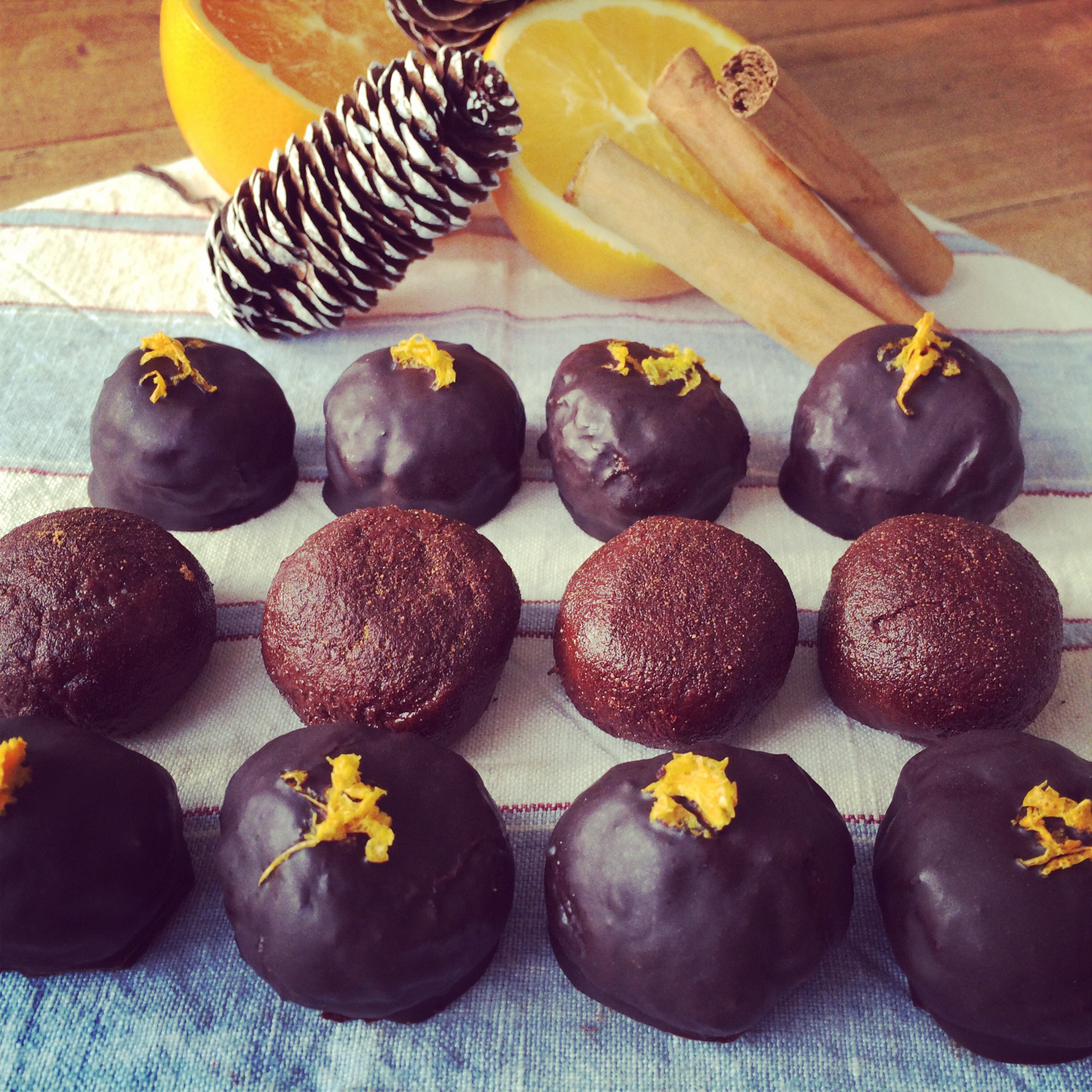 choc orange truffles